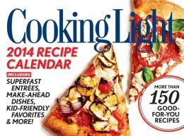 2014 Cooking Light Boxed Recipe Calendar