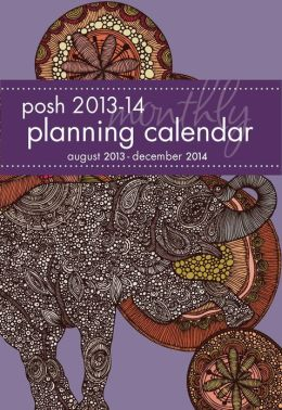 2014 Posh: Mosaic Elephant Monthly Pocket Planner: August 2013-December 2014