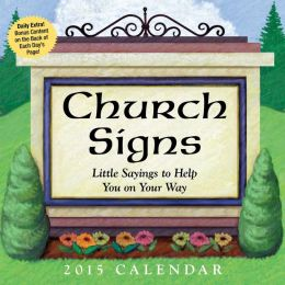 2015 Church Signs Day-to-Day Calendar