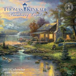 Thomas Kinkade Painter of Light with Scripture 2015 Mini Wall Calendar