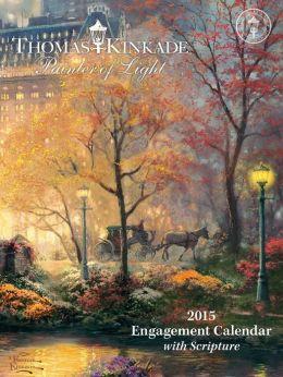 2015 Thomas Kinkade Painter of Light with Scripture Engagement Calendar