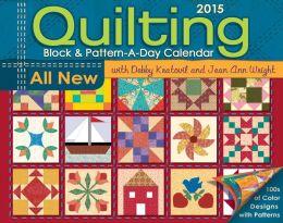 2015 Quilting Block & Pattern-a-Day Calendar