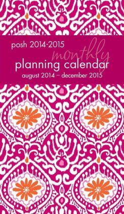 Posh: Batik Beauty 2014-2015 Monthly Pocket Planning Calendar