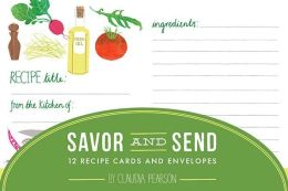 Savor and Send: 12 Recipe Cards and Envelopes