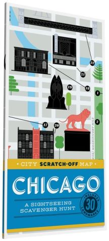 City Scratch-Off Map: Chicago: A Sightseeing Scavenger Hunt