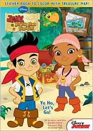 Yo Ho, Let's Go! Jake & the Neverland Pirates: Sticker Book to Color with Treasure Map