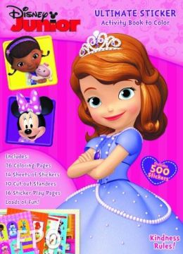 Disney Jr Sofia the First Ultimate Sticker Book to Color - Kindness Rules!
