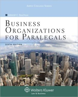 Business Organizations for Paralegals 6e