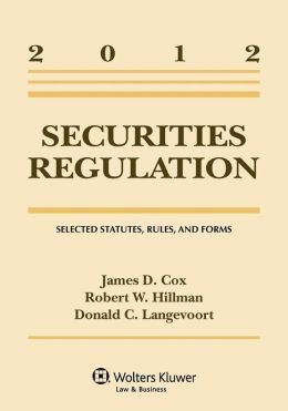 Securities Regulation Statutory Supplement 2012