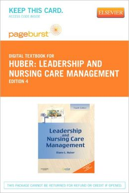 Leadership and Nursing Care Management - Pageburst Digital Book (Retail Access Card)