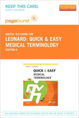 Quick & Easy Medical Terminology - Pageburst Digital Book (Retail Access Card)