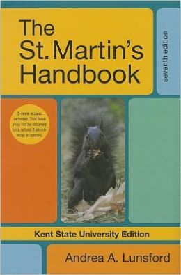 The St. Martin's Handbook, Kent State University Edition