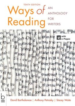 ways of reading an anthology for writers Buy or rent ways of reading: an anthology for writers as an etextbook and get instant access with vitalsource, you can save up to 80% compared to print.