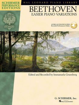 Ludwig van Beethoven - Easier Piano Variations: with a CD of performances Schirmer Performance Editions
