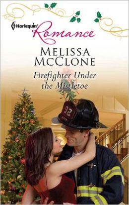 Firefighter Under the Mistletoe
