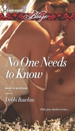 No One Needs to Know (Harlequin Blaze Series #744)