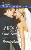 Book Cover Image. Title: A Wife for One Year, Author: Brenda Harlen