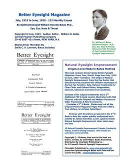 Better Eyesight Magazine: Natural Eyesight Improvement