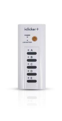 i>clicker+ student remote