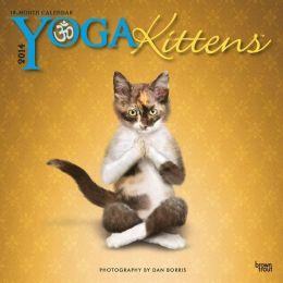 2014 Yoga Kittens Mini 7x7 Calendar