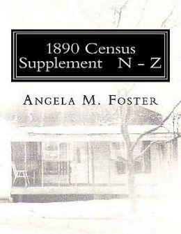 1890 Census Supplement N - Z