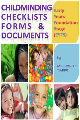 Early Years Foundation Stage (EYFS) Child Minding Checklists Forms & Documents