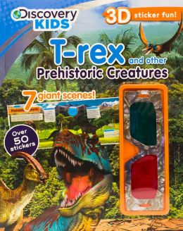 Discovery 3D Sticker Scene T-rex and Other Prehistoric Creatures
