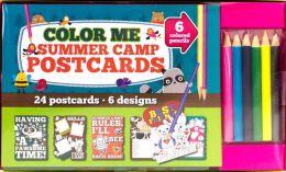 Color Me Summer Camp Postcards