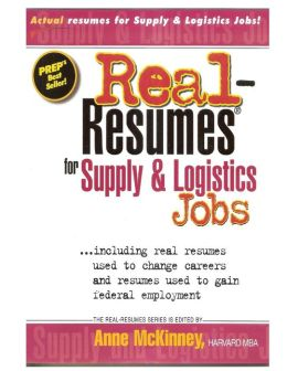 Real-Resumes for Supply and Logistics Jobs