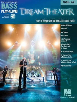 Dream Theater: Bass Play-Along Volume 47 Book/2-CD Pack