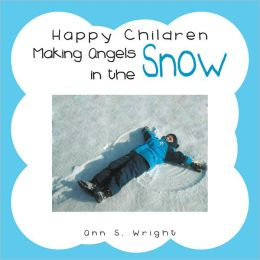 Happy Children Making Angels in the Snow