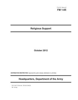 Field Manual FM 1-05 Religious Support October 2012