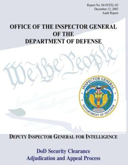 Office Ot The Inspector General Of The Department of Defense: Report No. 04-INTEL-02