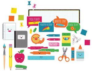 School Pop School Tools Bulletin Board Set