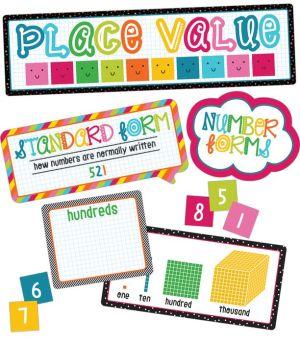School Pop Place Value Bulletin Board Set