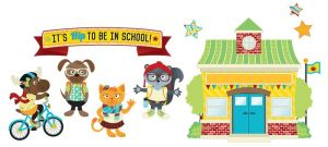 Hipster It's Hip to Be in School Bulletin Board Set