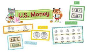 Hipster U.S. Money Bulletin Board Set