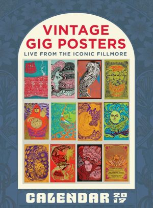 2017 Vintage Gig Posters Wall Poster Calendar
