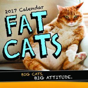 2017 Fat Cats Wall Calendar