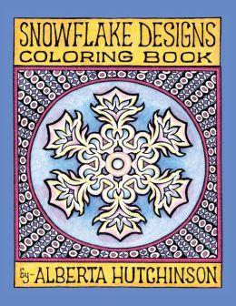Snowflake Designs Coloring Book: 24 Designs in Elaborate Frames