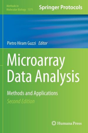 Microarray Data Analysis: Methods and Applications