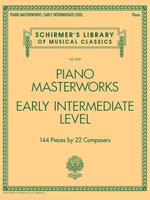 Piano Masterworks - Early Intermediate Level - Schirmer's Library Of Musical Classics