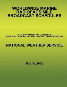 Worldwide Marine Radiofacsimile Broadcast Schedules