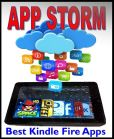 Book Cover Image. Title: App Storm:  Best Kindle Fire Apps, a Torrent of Games, Tools, and Learning Applications, Free and Paid, for Young and Old, Author: Steve Weber