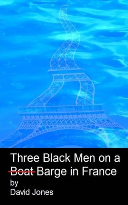 Three black men on a boat barge in France