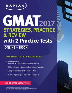 GMAT 2017 Strategies, Practice, and Review with 2 Practice Tests: Online + Book