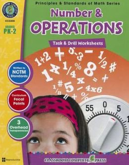 Number & Operations: Task & Drill Sheets, Grades PK-2