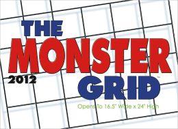 2012 Monster Grid Wall Calendar
