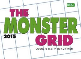2015 Monster Grid Wall Calendar