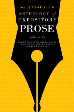 The Broadview Anthology of Expository Prose, second edition